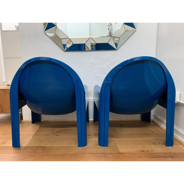 1970s 1970s Vintage Gae Aulenti for Kartell Italian Lounge Chairs- A Pair For Sale - Image 5 of 13