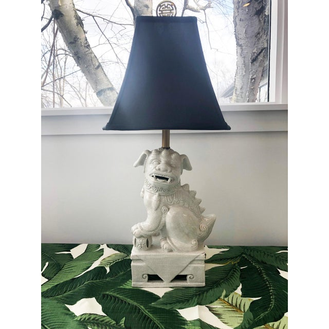 1950s Mid Century Foo Dog Lamp For Sale - Image 10 of 10