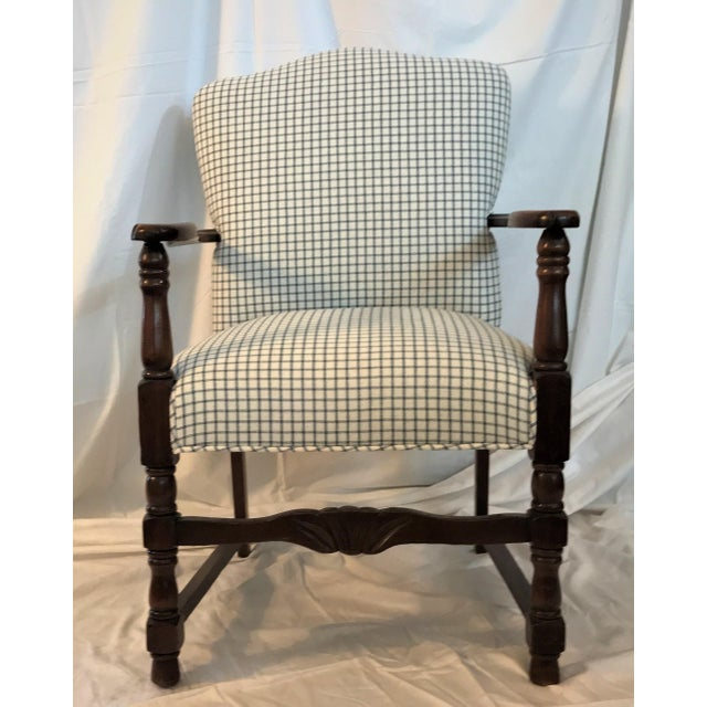 Vintage French Fauteuil Arm Chair - Custom Upholstered - Image 2 of 6