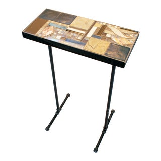 """""""Sedona Stork"""" Mosaic and Metal Console Table For Sale"""