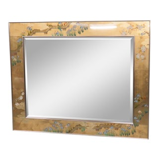 LaBarge Eglomise Wall Mirror For Sale