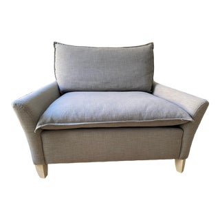 """West Elm Upholstered """"Chair and a Half"""" For Sale"""
