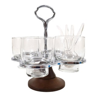 Mid-Century Modern Spinning Condiment Server For Sale