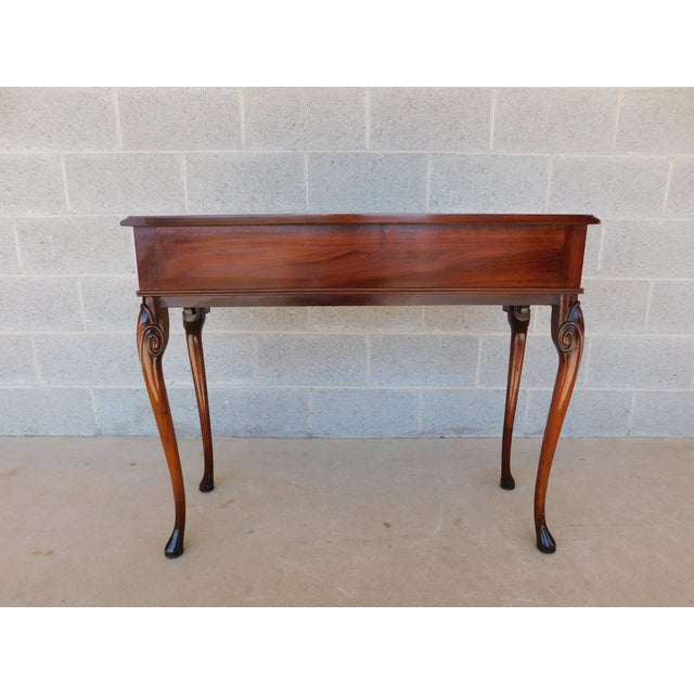 """Kittinger Georgian Style Mahogany Console Accent Table 38.25""""w For Sale - Image 9 of 13"""
