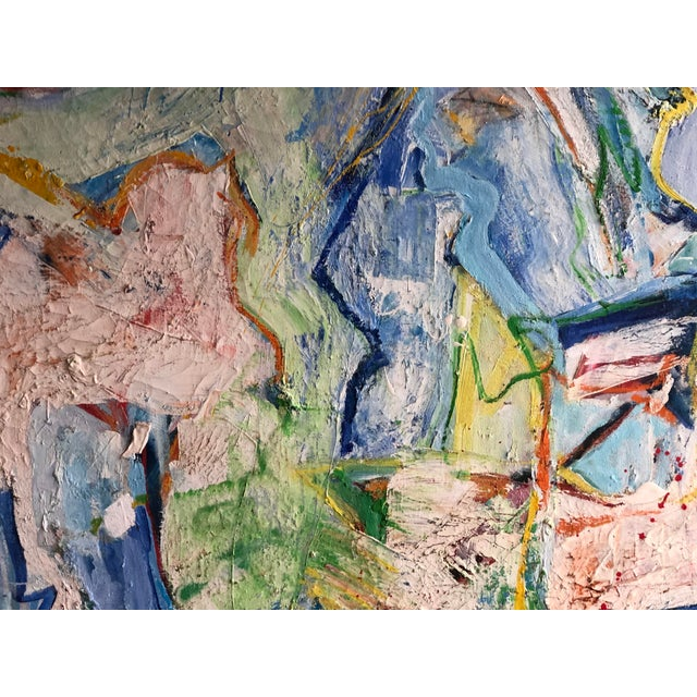 Fabulous Heavy Impasto Abstract by Thomas Koether For Sale - Image 4 of 8