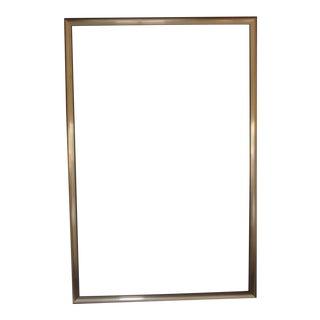 Large Golden Wood Art Frame For Sale