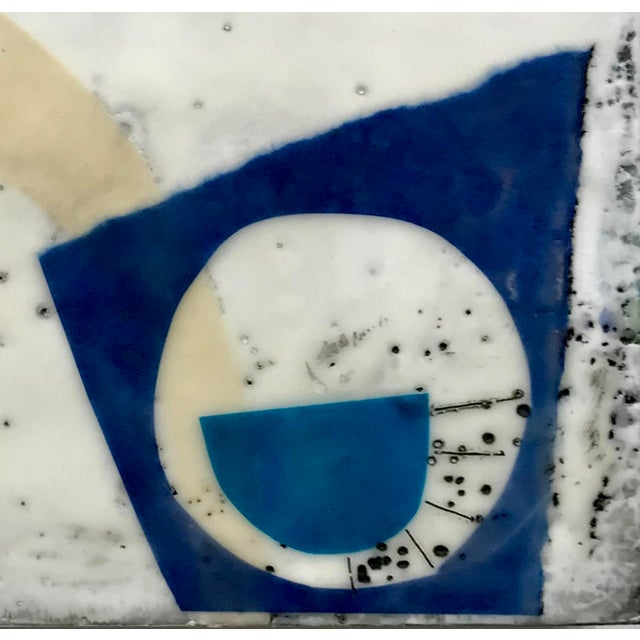 """Abstract """"Perceptions No. 11"""" Original Encaustic Collage Painting by Gina Cochran For Sale - Image 3 of 5"""