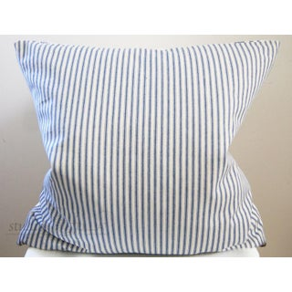 """Brunswig & Fils """"Les Touches"""" Contemporary Embroidered Blue and White Leopard Pillow Cover Preview"""