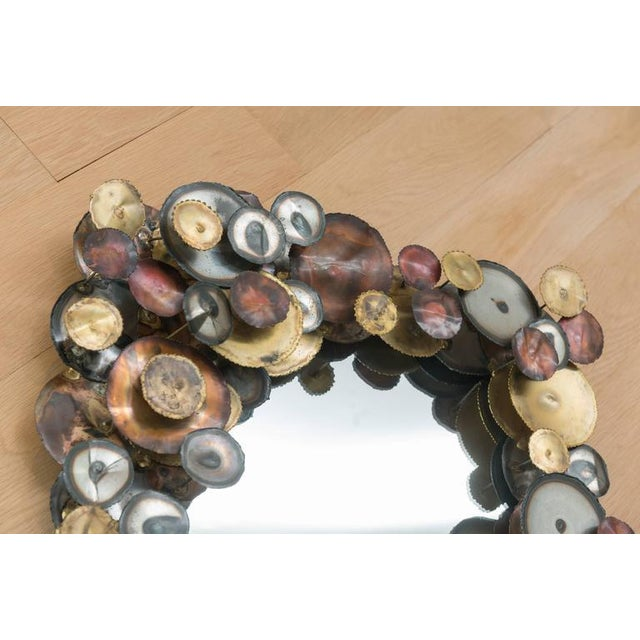 Curtis Jere Curtis Jere Raindrops Mirror For Sale - Image 4 of 7