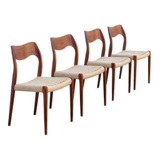 Teak N.O. Moller Model 71 Dining Chairs - Set of 4 For Sale