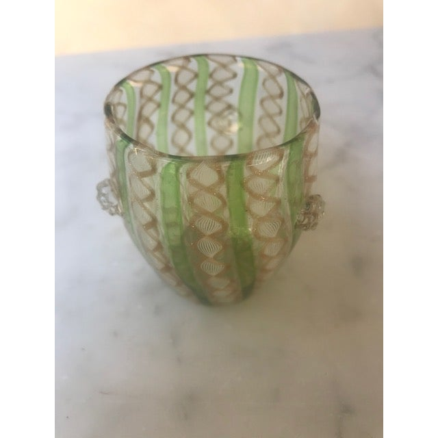 19th Century Victorian Venetian Art Glass Small Vase For Sale - Image 12 of 13