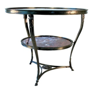 Art Nouveau Gueridon Marble Top Table For Sale