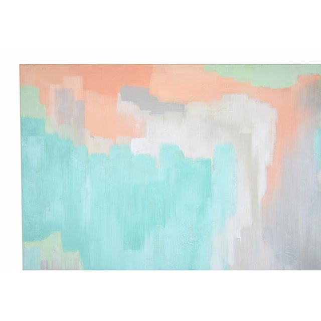 Modern Pastel Abstract Expressionist Oil Painting Sarah Brooke Australian For Sale - Image 4 of 9