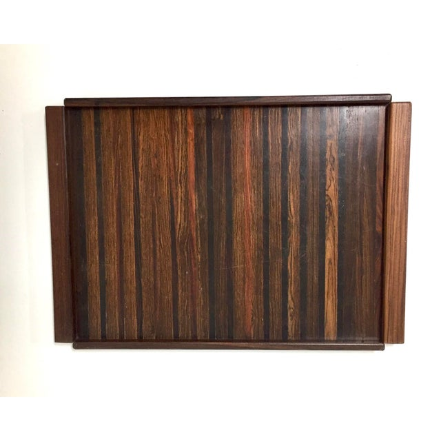 Large Rosewood and Exotic Wood Tray by Don Shoemaker for Senal, S.A. For Sale In Houston - Image 6 of 6