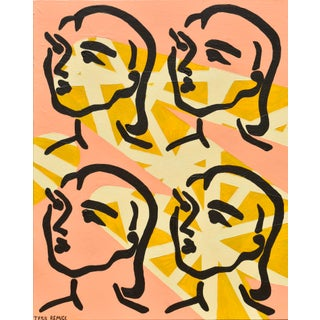 """The Divine Feminine"" Matisse-Inspired Graphic Design Painting For Sale"