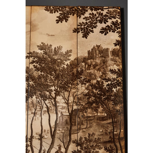 Fornasetti Four-Panel Screen in the Manner of Fornasetti For Sale - Image 4 of 9