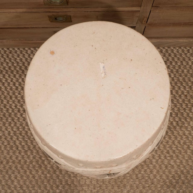 1980s A Chinese Ceramic Garden Stool For Sale - Image 5 of 9