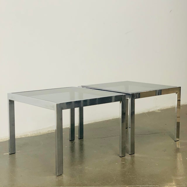 1970s Milo Baughman Side Tables - a Pair For Sale - Image 10 of 10