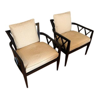 Baker Barbara Barry Double X-Back Chairs - a Pair
