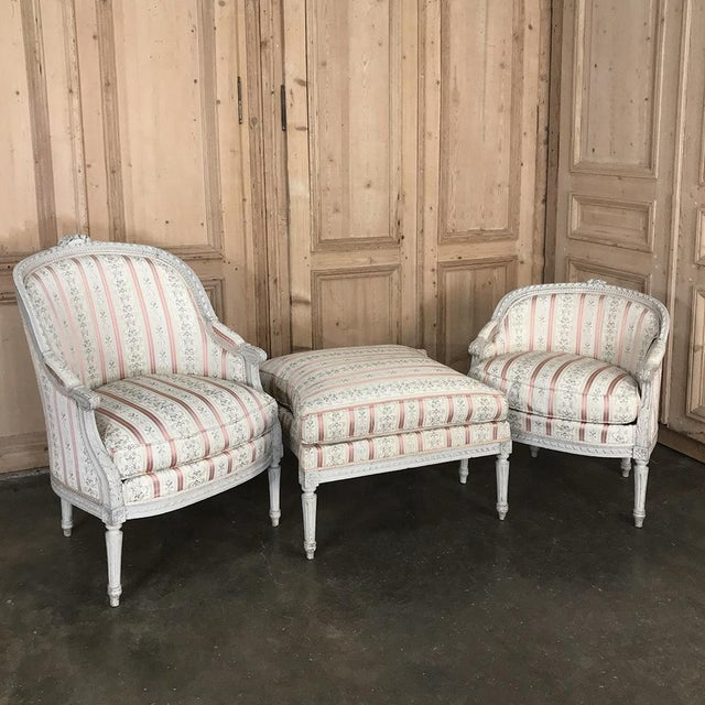 19th Century French Louis XV Chaise Duchesse Brisee (Chaise Lounge) For Sale - Image 4 of 13