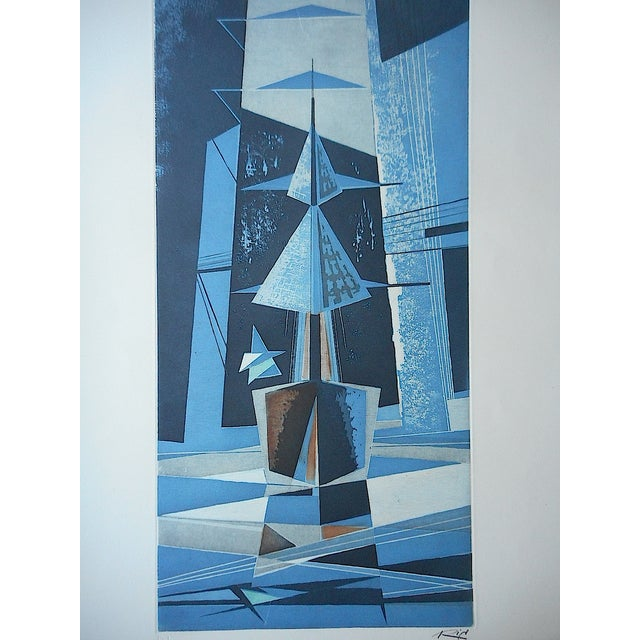 Mid 20th C. Modern Sailboats Etching - Image 3 of 5