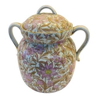 Victorian Floral Porcelain Jug & Lid For Sale