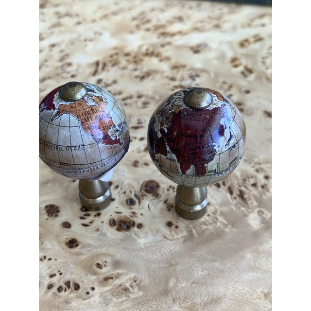 Boho Chic Vintage Globe Finials - a Pair For Sale - Image 3 of 7