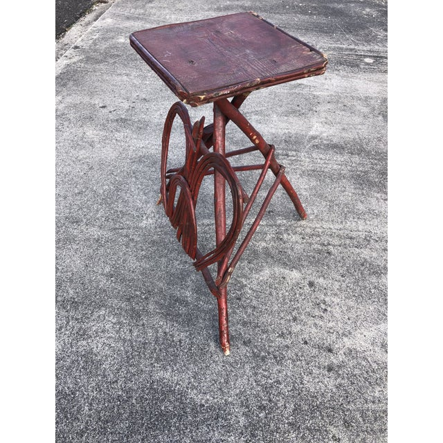 Twig Rustic Adirondack End Side Table For Sale - Image 4 of 9