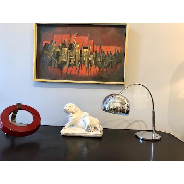 Silver Mod Chrome Arc Modern Desk Lamp For Sale - Image 8 of 9