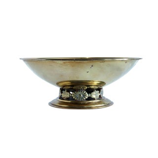 Swedish Art Deco Brass Pedestal Bowl For Sale