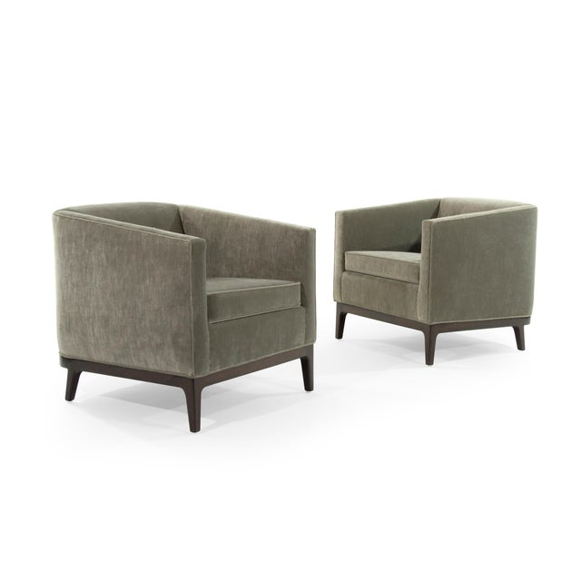 Mid 20th Century Mid-Century Modern Tub Chairs in Chenille For Sale - Image 5 of 12