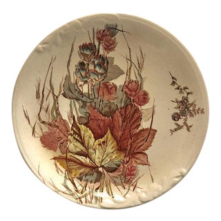 Antique Aesthetic Movement Transferware Decorative Plate