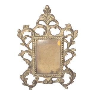 1900s Art Nouveau Brass Picture Frame For Sale