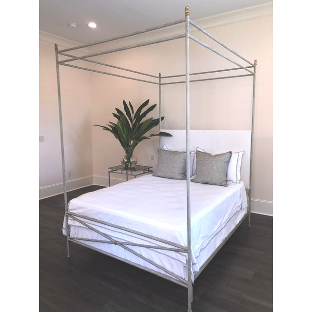 The Orleans Canopy Bed is meticulously handcrafted in New Orleans in the style of the Neo-classic period with a wrapped X...