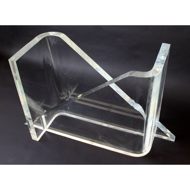 1970s 1970s Vintage Gary Gutterman Mid-Century Modern Lucite Glass Dining Table For Sale - Image 5 of 10