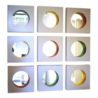 Global Views Steel Box Mirror Installation - Set of 9 For Sale
