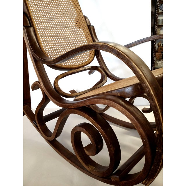 Thonet-Style Cane & Bentwood Rocker For Sale - Image 10 of 10