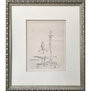 """Vintage Alberto Giacometti """"The Search"""" Restrike Etching C. 1968 For Sale"""