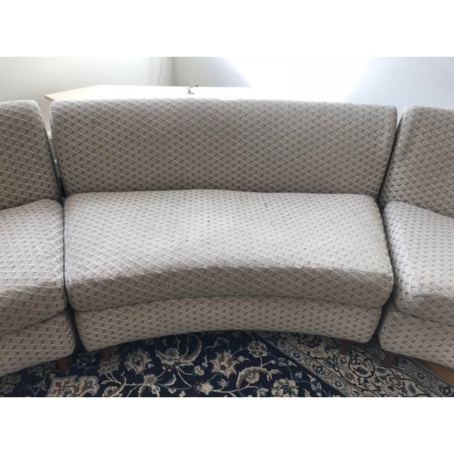 Curved Keller-Williams Vintage Mid Century Sectional Sofa - 3 Pieces For Sale - Image 5 of 9