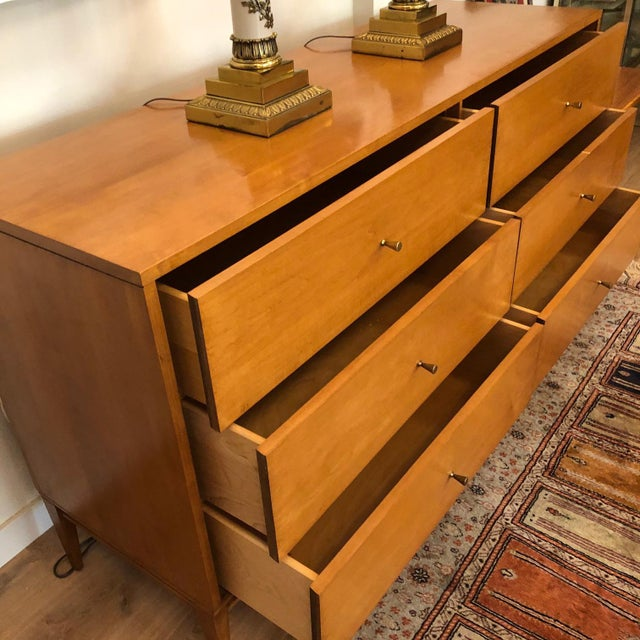 Beige 1960s Mid-Century Modern Paul McCobb Solid Maple Lowboy Dresser For Sale - Image 8 of 9
