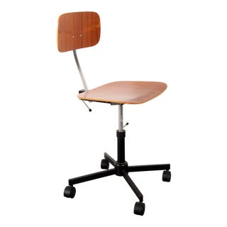 Mid Century Modern Jorgen Rasmussen Kevi Task / Desk Chair by Rabami in Teak For Sale