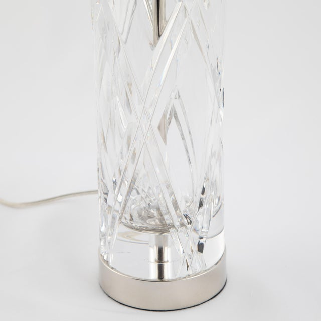 Olle Alberius Olle Alberius for Orrefors Hand-Cut-Crystal Table Lamps, Circa 1970s For Sale - Image 4 of 13