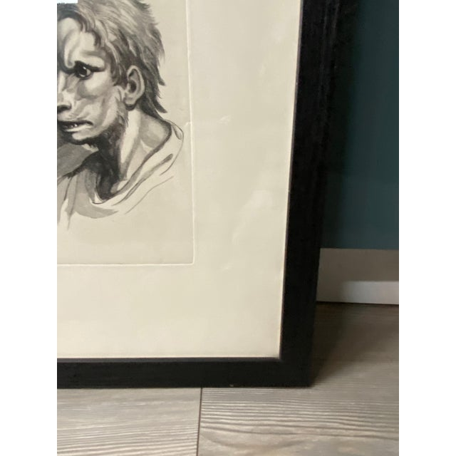 Early 20th Century Man as Fox - Physiognomic Heads Series Framed Illustration by Charles Le Bru For Sale - Image 5 of 11