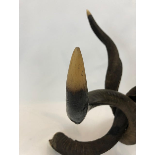 1970s Organic Handmade Kudo Horn Based Coffee Table For Sale - Image 5 of 12