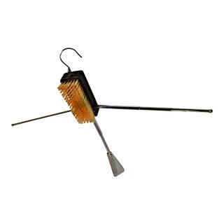Vintage Swank Shoe Horn, Brush, Hanger Combo - Telescopic, Travel - 1970s For Sale