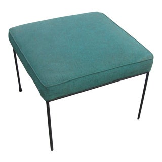 Paul McCobb Designed Mid Century Upholstered Iron Frame Stool by Winchendon Furniture For Sale