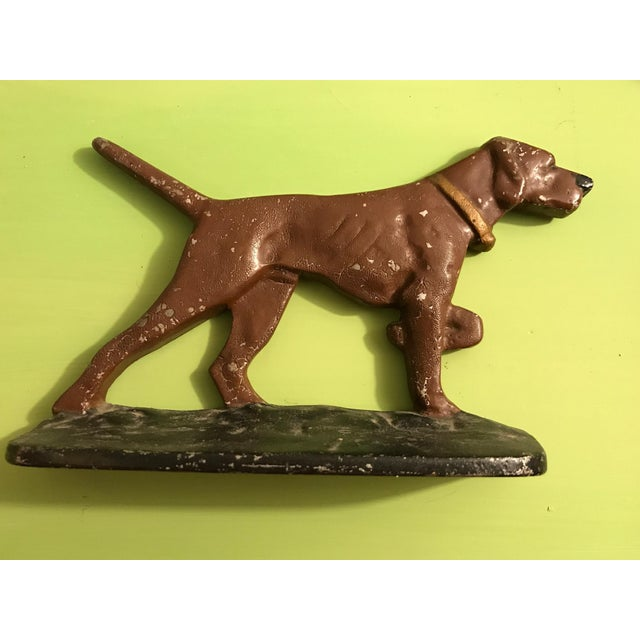 Painted Cast Metal Pointer Dog Bookends - Image 6 of 6