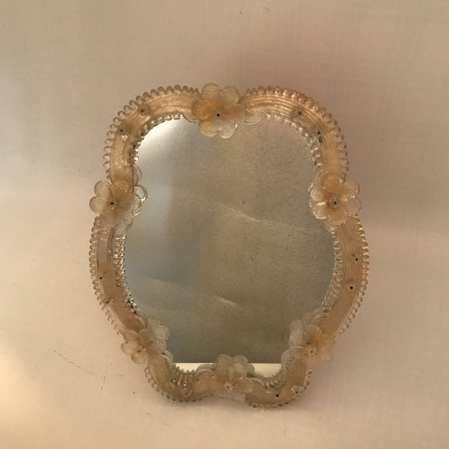 Venetian Glass Vanity Mirror on Stand For Sale - Image 12 of 12