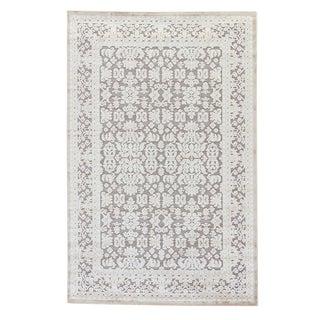Jaipur Living Regal Damask Gray & White Runner Rug - 2′6″ × 10′ For Sale