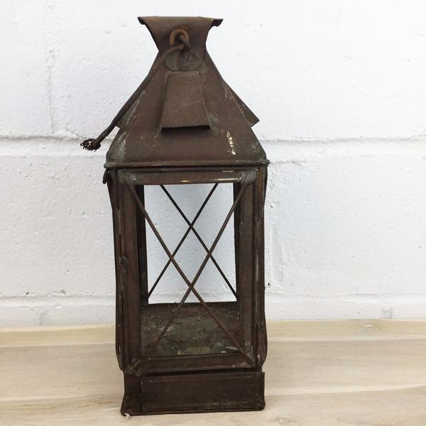 Antique Rustic French Style Candle Lantern - Image 2 of 10